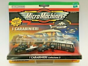 MICRO MACHINES 1998 CARABINIERI #5 POLICE ITALY CHEVY FORD BOAT BUS EARLY HASBRO