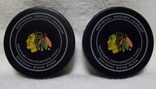 2013 & 2015 Blackhawks Western Conference Finals Official Game Pucks Lot of 2