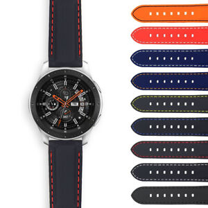 StrapsCo Rubber Band Strap with Contrast Stitching for Samsung Galaxy Watch