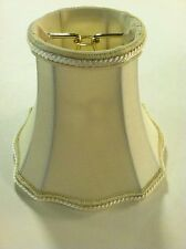 6 Pack  Eggshell  Silk Scallops Bell Chandelier Shade Clip On  Sconce  Lampshade