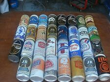 Lot of 31 Vintage Empty Falstaff Schmidt & Other Beer Can collection Lot # 2