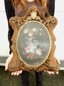 Ancien Grand Miroir Triptyque 19 e Napoléon III Antic Mirror Glas 19 th Century