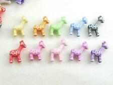 300+ Fun Colorful Giraffe Acrylic Beads Charm Jewelry Kids Crafts 10 Color USA