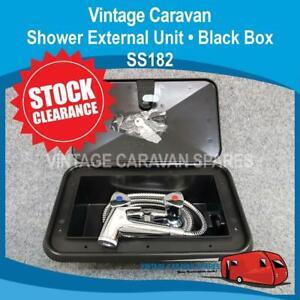 Watermarked Caravan External Shower Box ( BLACK )  SS182