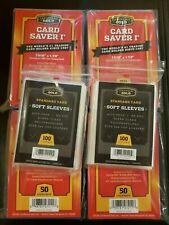 Cardboard Gold Card Saver 1 200 Count + 200 CBG Soft Sleeves  PSA / BGS