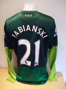 Fabianski Arsenal Match Worn 20013/14 Season Football Shirt AFTAL/UACC RD