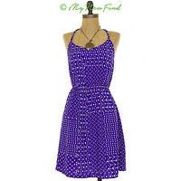 Soprano Nordstrom Juniors Mini Dress Size S Braided Straps Racer Blue NEW  B40
