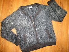BEAUTIFUL GIRLS NEXT GREY FLUFFY SPARKLE CARDIGAN AGE 10 YEARS NEW WITHOUT TAGS
