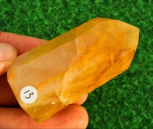 Quartz Golden Healer✔ Crystal Rock Mineral AA+ Standing Point 💎UK✔ 7cm 85g #13