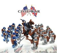 American Civil War Army Union North South Soldiers Figures MOC lego blocks toys