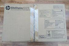 NEW HP EliteDisplay E223 21.5 inch Widescreen IPS Monitor