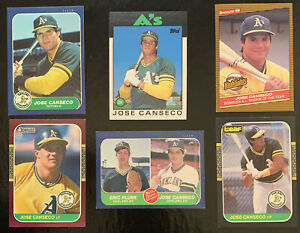 (6X) 1986-87 Topps Traded Update Donruss JOSE CANSECO Rookie RC Lot