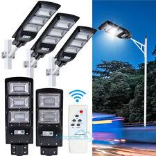 Commercial 14000LM Solar Street Light Flood Light IP67 Dusk to Dawn Road Lamp A+