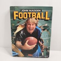 "John Madden's Football IBM PC 3.5"" Original Video Game 1988 w/ Box & Manual"
