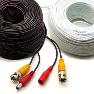 BNC DC Power Lead CCTV Security Camera DVR Video Record Extension Cable 5 - 100m