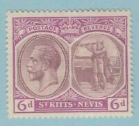 ST KITTS & NEVIS 30  MINT LIGHTLY HINGED OG *  NO FAULTS EXTRA FINE