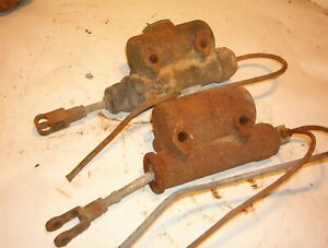 TWO 1947 THRU 1954  CHEVROLET GMC PICKUP BRAKE MASTER CYLINDER CORES 14485, 86