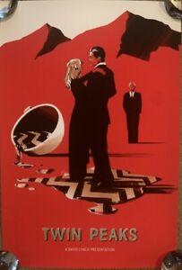 x/100 Poster Screen Print Twin Peaks Lyndon Willoughby Art HCG Like Mondo