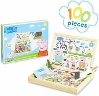 Peppa Pig Wooden Magnetic Board Puzzle Games, Magnetic Toys for Toddlers With