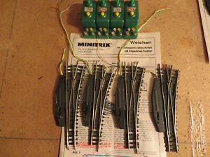 MiniTrix Weichen elektr.