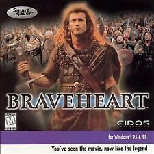 Braveheart (PC, 1999) RARE eidos Mel Gibson strategy brave heart movie game disc