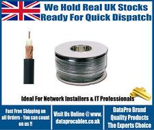 100m Single Heavy Duty RG59 Cable Coaxial CCTV Seguridad Cámara alambre de plomo rollo de Reino Unido