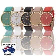 Elegant Women Casual Faux Leather Band Wrist Watch Classic Quartz Dress