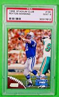 1998 Stadium Club Peyton Manning #195 RC Rookie PSA 9 🏦 Mint Colts