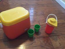 Vintage 1985 Little Tikes Carry A Long Cooler Set. Drink Dispenser Cups . VHTF.