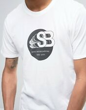 Sz S Rare Cool Nike Sb Skateboard T-Shirt Men's Placement Print White 833638-100