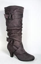 Fashion Low Heel Mid Knee Calf Zipper Dress Boots Women's Shoes Size 5 - 10 NEW
