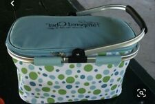 New listing New Pampered Chef Large Collapsible Insulated Zippered Picnic Basket On The Go