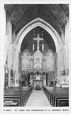 POSTCARD  SOMERSET  BATH   St  John the  Evangelist  RC  Church  ( Interior  RP