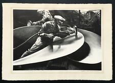 "Edward Arthur Wilson: Original Stone Lithograph ""The Propeller"" 1941 SIGNED"