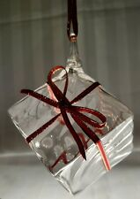 STEUBEN Glass GIFT BOX or PRESENT | Rare Crystal Christmas Ornament
