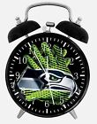 "Seattle Seahawks Alarm Desk Clock 3.75"" Home or Office Decor E478 Nice For Gift"