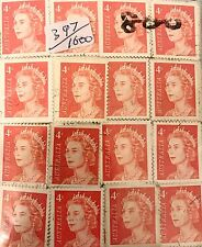 1966 Australian $.04 Stamps - Approx. 1000 Canceled Stamps