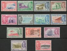 Cayman Islands 1950 KGVI complete set of 13 to 10 shillings SG135-147 LMM