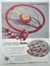 PUBLICITE QUILLERY VOLANT VIRAFLEX POUR AUTOMOBILE DE 1951 FRENCH AD PUB VINTAGE