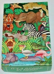 """Vintage Springbok 100 piece Puzzle """"It's a Jungle in Here"""" 7"""" x 10.5"""" Complete"""