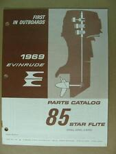 1969 OMC EVINRUDE 85 HP STAR FLITE OUTBOARD BOAT MOTOR ENGINE PARTS CATALOG 4624