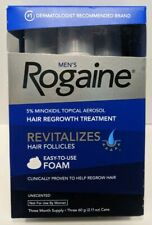 Rogaine Men's Hair Regrowth Treatment Foam 3 Month Supply Unscented EXP 08/2021