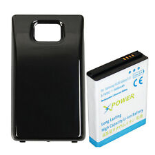 Extended Thick Battery 3600mAh For Samsung Galaxy S2 SII S 2 i9100 W Black COVER