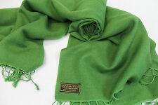 P152 NWT Green Color Pashmina Silk Shawl/ Wrap Hand Woven In Nepal