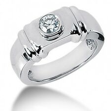 0.52 CT Men's Round Cut Diamond Pinkie Solitaire Ring