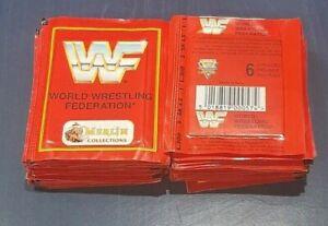 1992 Merlin WWF - 30 Packets 180 Stickers World Wrestling Federation