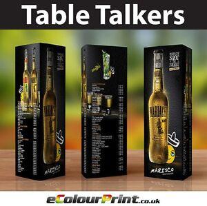 Custom Printed A4 Tent Calendar Display Menu Cards Food Drink Table Office Desk