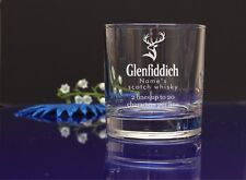 Personalised GLENFIDDICH Engraved present Whisky Glass Birthday, Christmas 75