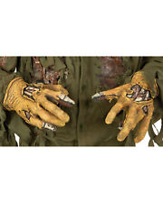 Morris Costumes Adult Unisex Torn Rotted Look Latex Hands One Size. RU2452