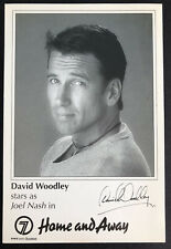 More details for david woodley *joel nash* home and away pre-signed 1990s cast fan card rare